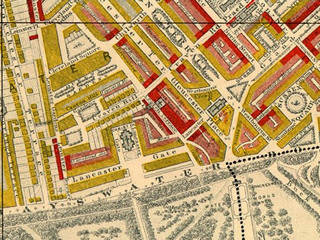 Extract from Booth's 'Poverty Map of London' (1889)